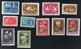 1950 Lot Gestempelt O Michel 1092 - 1094 Und 1112 - 1119 - Gebraucht
