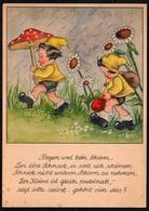 C0483 - Pau Glückwunschkarte - Zwerg Zwerge Heinzelmännchen Fliegenpilz - Cartax Phöben - Geburtstag