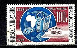 DAHOMEY Aer49° 100f Lilas, Carmin, Brun Et Bleu 20ème Anniversaire De L'UNESCO  (10% De La Cote + 015) - Benin - Dahomey (1960-...)