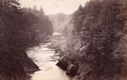 Ecosse Riviere Esk Depuis Le Pont De Gannochy Bridge Ancienne Photo James Valentine 1880 - Anciennes (Av. 1900)