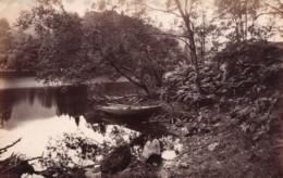 Ecosse Bord Du Lac Loch Katrine Barque Ancienne Photo James Valentine 1880 - Anciennes (Av. 1900)