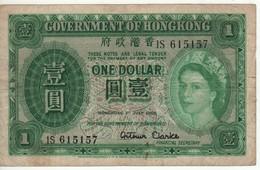 HONG KONG  $ 1  Queen Elizabeth II   P324Aa  (dated 1.7.1955) - Hong Kong