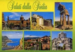 Saluti Dalla Sicilia - Palermo - Sciacca - Agrigento - Mondello - Taormina - Augusta - Formato Grande Viaggiata – E 9 - Bagheria