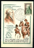 969 - Journée Du Timbre 1954 - Carte-Maximum - Cachet Besançon 20.3.1954 - Maximum Cards