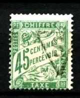 Taxe  36 - 45c Vert - Oblitéré - Très Beau - 1859-1955 Used