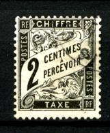 Taxe  11 - 2c Noir - Oblitéré - Très Beau - Taxes