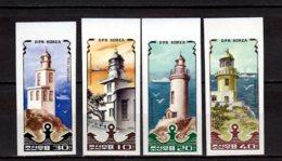 1985 North Korea - Lighthouses - Imperforated Set Rare! MNH** MiNr. 2631 - 2634 (kk) - Korea, North