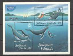 1997 Solomon Islands - Exhibition Pacific 1997 Humpback Whale MS MNH** MiNr. 941 - 942 (Block 48)  (kk) - Salomoninseln (Salomonen 1978-...)