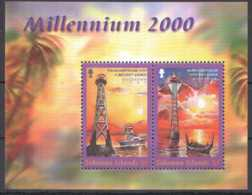 2000 Solomon Islands - MIllenium Morning -Tulagi And Munda Lilghthouses - MS MNH** MI B 59 - Leuchttürme