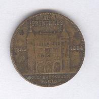 Jeton Au Printemps - 1865 1884 - Boul. Haussmann - Jules Jaluzot Fondateur - Professionals / Firms