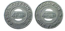 04023 GETTONE TOKEN JETON TRAMWAYS TRANSIT TRANSPORT OHIO CANTON CITY LINES INC. 1948 - USA