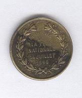 Jeton Souvenir De La Fête Nationale 14 Juillet 1895 - Professionnels / De Société