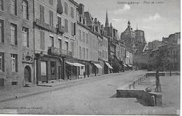 GUINGAMP PLACE DU CENTRE SOCIETE GENERALE ,QUINCAILLERIE ... CARTE EN BON ETAT - Guingamp