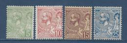 Monaco - YT N° 22 à 25 - Neuf Avec Charnière - 1901 - Ongebruikt