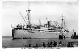 Gambie / 30 - Bathurst - The M.V Apapa Comes Into Port At Bathurst - Belle Oblitération - Gambia