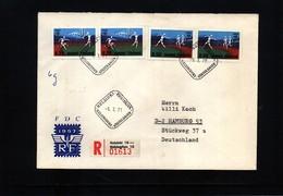 Finland 1971 Athletics Interesting  Registered Letter - Leichtathletik