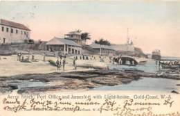 Ghana / Topo - Belle Oblitération - 13 - Accra Each - Port Office And Jamesfort With Light House - Ghana - Gold Coast