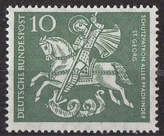 Germania 1961 Sc. 823 San Giorgio Georg Uccide Il Drago MNH Germany - Cristianesimo