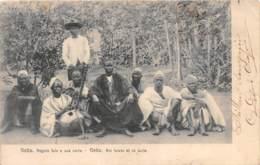 Guinée Espagnole / 07 - Geba - Roi Fulats Et Sa Suite - Guinée