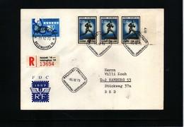 Finland 1973 Athletics Paavo Nurmi Interesting  Registered Letter - Leichtathletik
