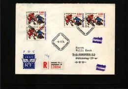 Finland 1974 Hockey Interesting  Registered Letter - Eishockey