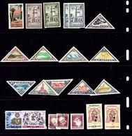 WW20 22 Stamps; 2 Dups; Most Nicaragua; Most Unused - Stamps