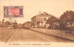 Guinée  Française / Conakry - Belle Oblitération - 35 - Grande Vitesse - Les Quais - - Guinée Française