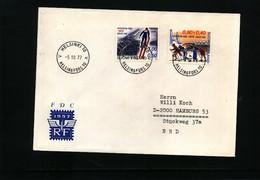 Finland 1977 Skiing Interesting  Letter - Ski