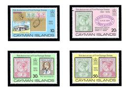 Cayman Is 368 71 MNH 1976 Stamps On Stamps - Cayman Islands