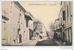 Cpa..47..CASTELMORON SUR LOT..GRANDE RUE.. ANIMEE..A VOIR - Francia