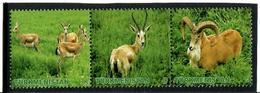 Turkmenistan.2009 Animals (Ram, Gazelle). Strip Of 3v: D,G,K  Michel # 270-72 - Turkménistan