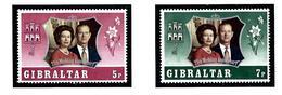 Gibraltar 292-93 MNH 1972 QEII Silver Wedding - Gibraltar