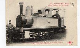 LES LOCOMOTIVES  (Belgique) Locomotive Tender Construite Par La S. Anonyme De St Léonard à Liège (Belgique). - Treni