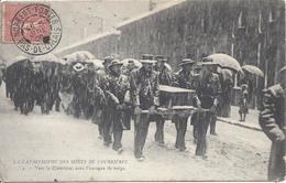 Catastrophe Des Mines De Courrières Vers Le Cimetière Cachet NORRENT FONTES 5 Juillet 1906 Pour Boulogne - Autres Communes