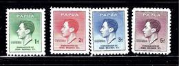 Papua New Guinea 118-21 MNH 1937 KGVI Coronation - Unclassified