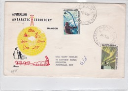 AUSTRALIAN ANTARTIC TERRITORY, MAWSON. SPECIAL COVER 1968 CIRCULEE - BLEUP - Australisch Antarctisch Territorium (AAT)