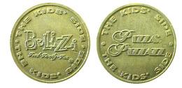 03566  GETTONE TOKEN JETON AMUSEMENT VENDING PIZZA  BELLIZZI FOOD FAMILY FUN - USA
