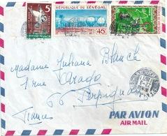 SENEGAL Lettre Bien Affranchie Pour Perpignan - Senegal (1960-...)