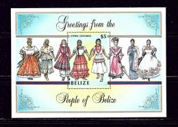 Belize 806 MNH 1986 People In Belize S/S - Belize (1973-...)