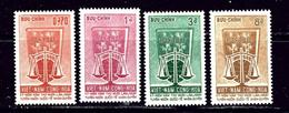 South Vietnam 223-26 MNH 1963 Human Rights - Vietnam