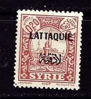 Latakia #4 Hinged 1933 Overprint On Stamp Of Syria - Syria