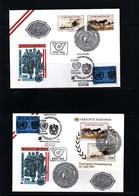 Austria / Oesterreich + UNO Wien 1985 40 Years Of UNO Joint Issue 4 Different Covers - Gemeinschaftsausgaben