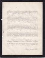 CLABECQ Célestin De CAUVIGNY Marquise De La CROIX De CHEVRIERES De SAYVE 83 Ans 1879 Tubize Famille SNOY - Décès