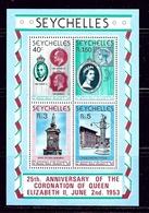 Seychelles 416a MNH 1978 QEII Silver Jubilee S/S - Seychelles (1976-...)