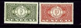Senegal J22-23 Hinged 1935 Issues - Senegal (1960-...)