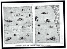 St Helena 352 MNH 1981 Map Souvenir Sheet - Saint Helena Island
