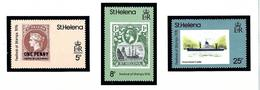 St Helena 295-97 MNH 1976 Festival Of Stamps - Saint Helena Island