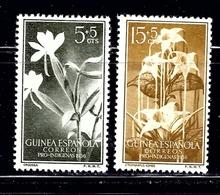 Spanish Guinea B37-38 MH 1956 Flowers - Guinée (1958-...)