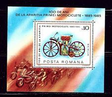 Romania 3300 MNH 1985 Motorcycle Souvenir Sheet - Romania