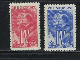 Albania 583-84 NH 1961 Set - Albania